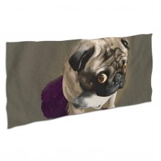 Cute Pug Soft,Compact,Lightweight,Quick Dry Absorbent,Large Sand Free Beach TowelsMicrofiber Towels Travel Towel Quick Dry Camping,Superfine Fiber.