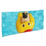 Cute Pug Swimming Pool Device. Soft,Compact,Lightweight,Quick Dry Absorbent,Large Sand Free Beach TowelsMicrofiber Towels Beach Quick Dry Camping,Superfine Fiber.