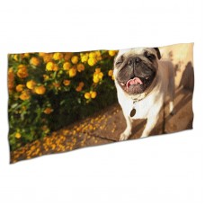 Cute Pug Smiling Soft,Compact,Lightweight,Quick Dry Absorbent,Large Sand Free Beach TowelsMicrofiber Towels Sports Quick Dry Camping,Superfine Fiber.