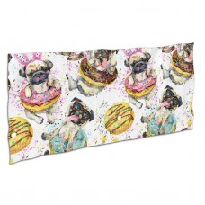 Cute Pug Dog Donuts Soft,Compact,Lightweight,Quick Dry Absorbent,Large Sand Free Beach TowelsMicrofiber Towels Beach Quick Dry Camping,Superfine Fiber.