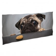 Cute Pug Dog Print Soft,Compact,Lightweight,Quick Dry Absorbent,Large Sand Free Beach TowelsMicrofiber Towels Beach Quick Dry Camping,Superfine Fiber.
