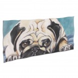 Cute Pug Dog Painting Soft,Compact,Lightweight,Quick Dry Absorbent,Large Sand Free Beach TowelsMicrofiber Towels Gym Quick Dry Camping,Superfine Fiber.