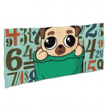 Cute Pocket Pug Puppy Soft,Compact,Lightweight,Quick Dry Absorbent,Large Sand Free Beach TowelsMicrofiber Towels Backpacking Quick Dry Camping,Superfine Fiber.